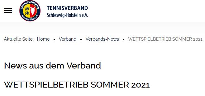 Info zum Wettspielbetrieb Sommer 2021